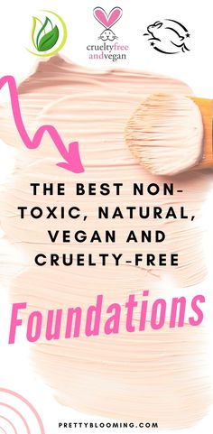 The Best Affordable Non-Toxic Natural Vegan and Cruelty-Free Foundation Natural Bb Cream, Natural Face, Natural Skin Care, Natural Beauty, Natural Makeup, No Foundation Makeup, Best Natural Foundation, Foundation Tips, Flawless Foundation