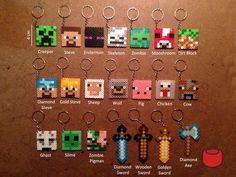 Minecraft Ke ychains | 15 Incredibly Unique Minecraft Toys That'll Take Your Geekiness To New Levels