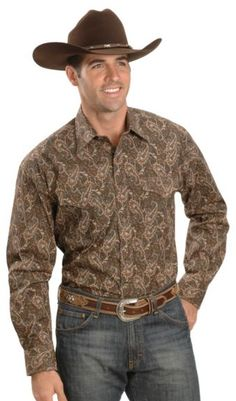 Stetson Brown Paisley Snap Western Shirt available at #Sheplers
