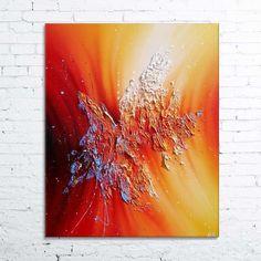 Phoenix Rising - tableau abstrait moderne contemporain peinture acrylique en…