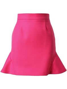Fuchsia pink wool flutter skirt from Stella McCartney. Concealed zip down side. Darts for shaping. Dry clean only. Flippy Skirts, Trumpet Skirt, Stitch Fix Stylist, Everything Pink, Wool Skirts, Stella Mccartney, Style Me, Hot Pink, Midi Skirt