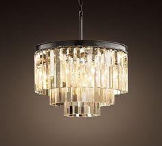 Art Deco-style glass chandelier.