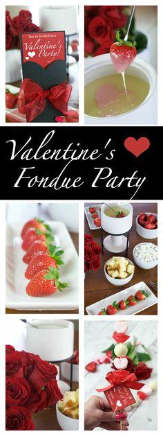 Valentine's Fondue Party Ideas