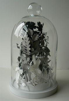 paperscape in a dome --what a great way to showcase them and keep them safe at the same time!