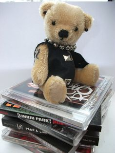 Steel the 5'' mohair rock bear by Bedlambears on Etsy, £20.00
