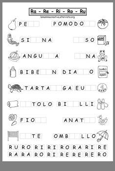 Italian Language, Learning Italian, School, Alphabet, Teaching Reading, Autism, Note Cards, Teachers