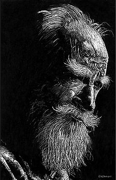 Shaw  Scratch board by William Martin