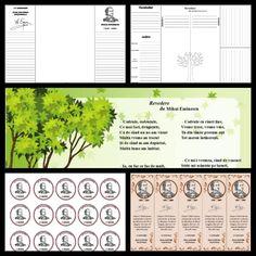 """Revedere"" de Mihai Eminescu Romanian Language, Preschool Worksheets, Pre School, 1 Decembrie, Diy And Crafts, Projects To Try, Classroom, Popular, Class Room"