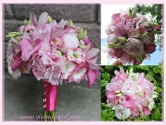 Bouquet with calla lilies, orchids and peonies – Montreal West Island Wedding and Event Florist Wedding Flower Arrangements, Floral Arrangements, Wedding Flowers, Island Weddings, Calla Lily, Peonies, Orchids, Floral Wreath, Bouquet