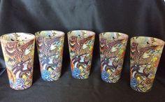Set of 5 Don Ed Hardy Design Drinking Glasses Tumblers 16oz Tattoo Artwork