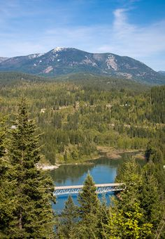 Crossing the Pend Oreille River at Metaline Falls