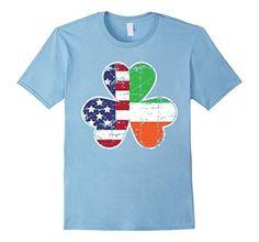 American Irish Flag Clover T-shirt Patrick's Day