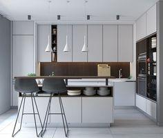 Modern apartment kitchen design 659 best kitchen inspirations images on pin Small Modern Kitchens, Luxury Kitchens, Cool Kitchens, Ikea Kitchens, White Kitchens, Interior Modern, Minimalist Interior, Interior Design Kitchen, Minimalist Bedroom