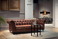 Wohnzimmer, Chesterfield Sofa Gebraucht Im Kolonial Wohnzimmer Dekoration  Inklusive Beste Qualität Gewachstes Anilinleder Mit Couchtisch