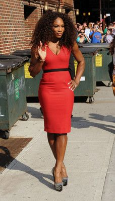 4f882034f9c9 serena williams stuns in red dress she wears on Letterman