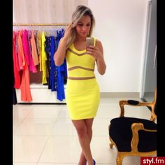 ♥ yellow dress Swagg, Yellow Dress, Dress Me Up, Everyday Fashion, Dress To Impress, Trendy Outfits, Casual Dresses, Womens Fashion, Fashion Trends