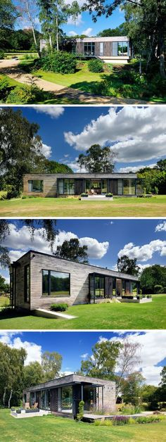A Low Energy Home Located On A Clearing In The Forest
