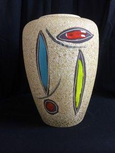 mid century-vase-lava-50s-german pottery