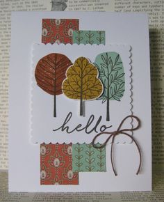 Barb Mann Stampin' Up! Demonstrator - SU - Fall - CAS - cased from Melissa Stout - Totally Trees, Watercolor Wishes (from card kit)