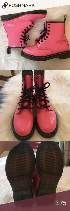 Hot Pink Dr. Martens Boots Size 8 Beautiful hot pink boots by Dr. Martens. Size US. In perfect condition!!! Dr. Martens Shoes
