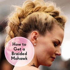 how to get a braided mohawk hair tutorial