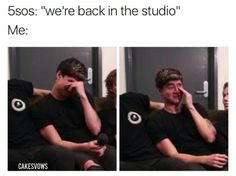 I literally cry because i be so happy that they are back in the studio recording!
