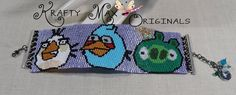 Amazon.com: ANGRY BIRDS - Green Pig, Blue Bird and White Bird Beadwoven Bracelet: Handmade