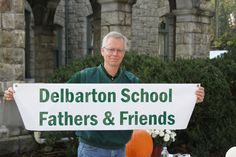 Delbarton dad Kevin Feeley was busy setting up the F table on Homecoming morning.