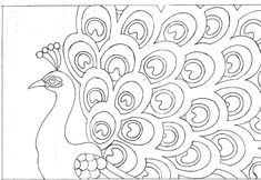 Peacock Drawings | rug patterns page 10
