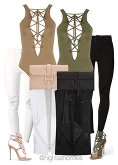 """""""Twins"""" by highfashionfiles ❤ liked on Polyvore featuring (+) PEOPLE, WearAll, Balmain, Giuseppe Zanotti and Hermès"""