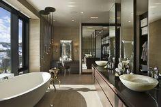 Small Luxury Bathrooms, Modern Luxury Bathroom, Modern Contemporary Bathrooms, Modern Master Bathroom, Bathroom Design Luxury, Modern Bathroom Decor, Bathroom Ideas, Modern Sink, Bathroom Colors