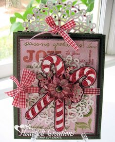 Heartfelt Creations | Sweet Candy Cane Card