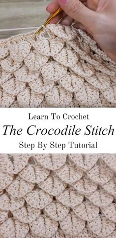 Learn how to crochet this beautiful crocodile stitch in the best possible way. With basic crochet stitches and step by step video tutorials, this pattern shouldn't be a problem for any level of crochet hooker. The crocodile stitch is one. Crochet Crocodile Stitch, Stitch Crochet, Crochet Diy, Crochet Basics, Learn To Crochet, Crochet Crafts, Crochet Projects, Crochet Stitch Tutorial, Things To Crochet