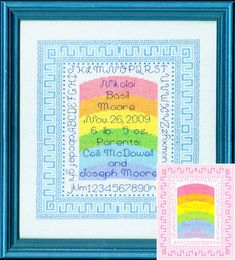 Choose from thousands of original cross stitch patterns designed by your favorite popular designers. Order online and instantly print your patterns right on your own home printer. Plus, use our Caption Maker tool to instantly chart your own words. Cross Stitch Baby, Cross Stitch Patterns, Home Printers, Back Stitch, Rainbow Baby, Own Home, Rainbows, Caption, Knots