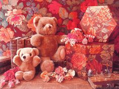 sweet animated teddy bear wallpaper for desktop
