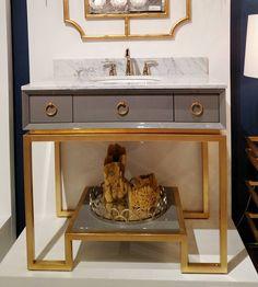 @amandacarolinteriors #hpmkt love @worldsaway1 new bathroom vanity collection. Self closing doors gorgeous lacquer finish. by highpointmarket
