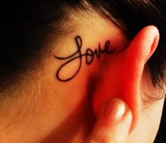 Cute Short Life Quote Tattoos for Girls - Behind Ear Short Life Quote Tattoos for Girls