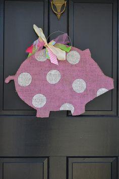 pink polka dot piggy