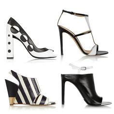 Black and White Sandals and Wedge SS 2015 Trend: Fendi, Balenciaga, Chloé, Givenchy