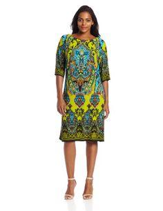 Sandra Darren Women's Plus-Size Elbow Sleeve Print Dress, Citrine Multi, 18 Sandra Darren,http://www.amazon.com/dp/B00D4K4IJC/ref=cm_sw_r_pi_dp_Wu9nsb0HPZPJZDTZ