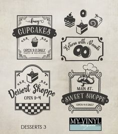 DIGITAL DOWNLOAD ... Dessert vectors in AI, EPS, GSD, & SVG formats @ My Vinyl Designer #myvinyldesigner