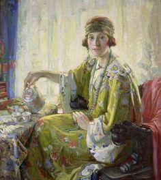 Christian von Schneidau (1893-1976)   —  Drinking Tea (915×1024)