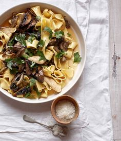 Pappardelle with mushroom ragù (pappardelle con misto di funghi) - Gourmet Traveller