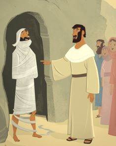 Dear Parents, Thank you for continuing this journey of The Gospel Project® for Kids. In today's Bible story, Jesus received word that His friend Lazarus was sick. Bible Images, Bible Pictures, Jesus Cartoon, Flannel Board Stories, Luke 9, The Transfiguration, Formal Dresses For Men, Bible Illustrations, Bible Coloring Pages