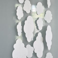 Paper Garland Sophie's White Clouds. $20.00, via Etsy.