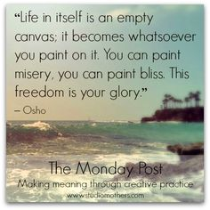 What are your creative intentions for the week? Share them with us at the Studio Mothers Monday Post!