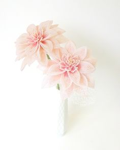 French Beaded Dahlia Flowers - by Lauren Harpster of Lauren's Creations