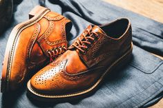 These are the best shoes to wear with jeans (wingtips) #mensfashion