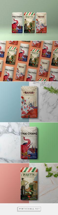 Novarroz: Origins rice packaging design by Super. Brand Consultants - http://www.packagingoftheworld.com/2017/11/novarroz-origins.html - created via https://pinthemall.net