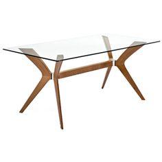 Calligaris Tokyo Dining Table Glass/Walnut  £925.00 - £1095.00